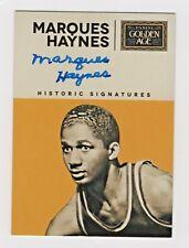 2014 Panini Golden Age Historic Signatures Marques Haynes Harlem Globetrotters