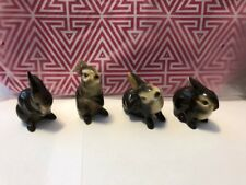 Lot 4 Goebel Bunny Rabbit Figurines W Germany Rare Full Set Ce 297 298 299 Brown
