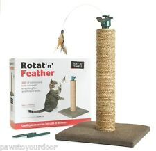Cat N Cero Post Rotat 'n' Feather Rayones Polo Toy Sharples 'n' conceder Árbol