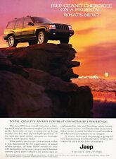 1996 Jeep Grand Cherokee - Pedestal - Classic Vintage Advertisement Ad D153