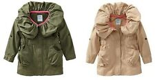 NWT! Old Navy Military Twill Coat Anarok Jacket Olive Green Beige 2T, 5T