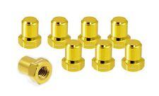 VMS RACING BILLET ALUMINUM GOLD H22 H22A VTEC VALVE COVER NUTS BOLTS HEAD 8 PCS