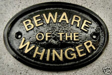 WHINGER BEWARE HOUSE DOOR GATE PLAQUE SIGN FAMILY MOAN