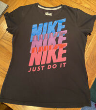 Nike Black Just Do It Logo T Shirt Large