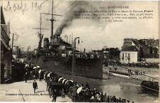 CPA  Saint-Nazaire - Aspect de la nouvelle entrée du Port au départ ... (222396)