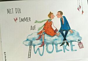 Grußkarte Umschlag Verliebt Verlobt Verheiratet Familie Jahrestag Cartoon Spruch