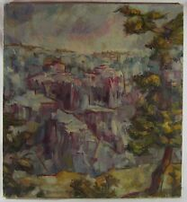 Original Mid Century Grand Canyon Badlands SD Landscape Oil Painting Signed 26""