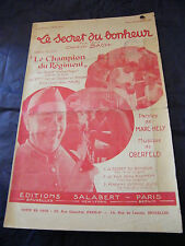 Partition Le secret du bonheur Bach 1932 Music Sheet