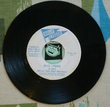 Ed Ames 45 Hello, Lyndon! 1964 LBJ Campaign Song Politics VG++