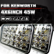 "Pair 4X6"" LED HID Cree Light Bulbs Crystal Clear Sealed Beam Headlamp Headlights"