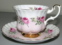 Royal Albert bone china pink roses cup and saucer England