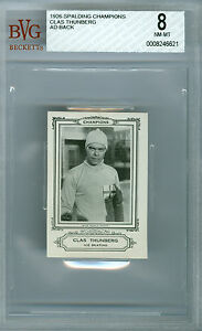 1926 SPALDING AD BACK CLAS. THUNBERG ICE SKATING OLYMPICS BGS 8 SOLO FINEST *