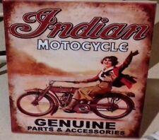 INDIAN MOTORCYCLES Genuine motor parts & acessories Vintage  RARE CERAMIC Tile