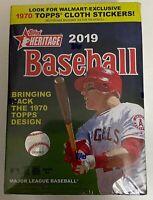 2019 Topps HERITAGE Baseball - Blaster Box - Eight (8) Packs - 1970 Topps Design
