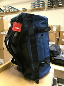 The North Face M-L Golden State Duffel Packable Travel Suitcase Backpack - Blue
