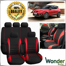 Car SEAT Covers Protectors Universal Washable Dog Pet Full Set Front Rear Red UK