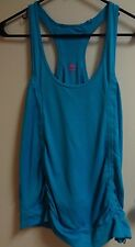 Tank top work out cross train Teal women's CUTE Yoga running M rouching