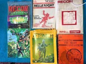 Recon, Aftermath, Stalking the Night, Hellsnight RPG game books