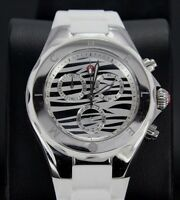Michele Tahitian Jelly Beans Zebra White Silicone Strap Ladies Chronograph Watch