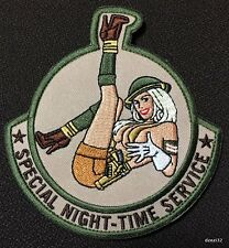 SPECIAL NIGHT TIME SERVICE TACTICAL COMBAT PINUP US ARMY MORALE ACU PATCH CAM