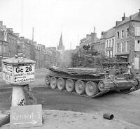 8x6 Lucido Foto ww3F3 Normandia Calvados Vassy 1944