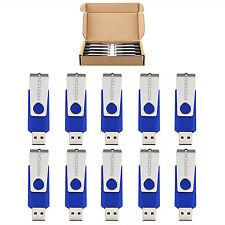 10PCS/Lot Blue 16GB Swivel USB 2.0 Flash Drive Rotating Memory Stick Pen Drive