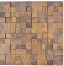 Mosaikmatte Kupfer Kombination Fliesenspiegel Verblender WC 49-1512 | 10 Matten