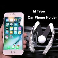 Universal Car Mobile Phone Holder Crystal Rhinestone Air Vent Mount Clip Stand G