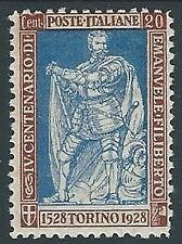 1928 REGNO FILIBERTO VITTORIA 20 CENT D.11 MH * - M18-5