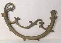 """NEW-OLD STOCK. LARGE 10-3/4"""" RAW CAST BRASS CHANDELIER ARM- LAMP PART"""