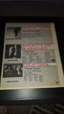 Joan Jett, Cheap Trick, Michael Jackson Rare Radio Promo Poster Ad Framed!