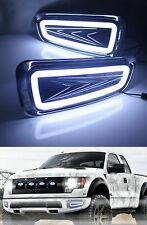 2x Fit Ford F150 Raptor 2010-2014 LED DRL Daytime Running Light Fog Lamp White