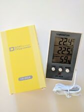 INDOOR OUTDOOR DIGITAL THERMOMETER & HYGROMETER  STORES MIN MAX TEMP 1 MTR PROBE