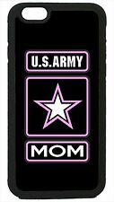 US Army Mom Black Case Cover for iPhone 4 4s 5 5s 5c 6 6 Plus USA Military