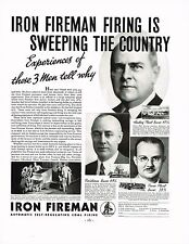 1934 BIG Vintage Iron Fireman Frank Hall Kentnor George Ruppert Photo Print Ad