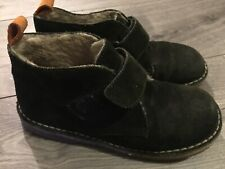 Mini Boden Boys 2/2.5 (33) Desert Suede Boots Shoes Dark Green
