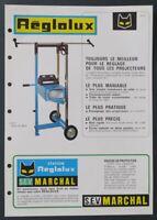 Brochure automobile MARCHAL REGLOLUX 1962 catalogue catalog dépliant
