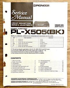 Pioneer PL-X505(BK) Service Repair Manual: Stereo Turntable
