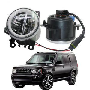 LED Fog Light + Angel Eye Rings DRL Fit For Land Rover Discovery 4 2010-2013