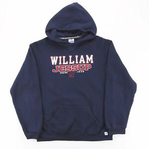 RUSSELL ATHLETIC William Jessup Blue American Round Neck Hoodie Boys XL