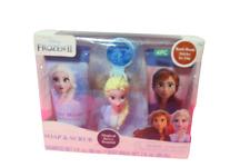 Disney Frozen 2 4 Piece Soap & Scrub Body Wash Shampoo Set Queen Elsa New