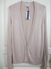 Gap Cadigan Sweater Women's Small Jeweled V-Neck 3 Button Tan Cardigan Sweater