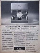 PUBLICITÉ DE PRESSE 1962 MONTRE OMEGA SEAMASTER - ADVERTISING
