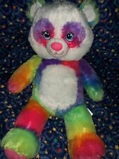 "BABW / Build a Bear Workshop RAINBOW PANDA Pop of Color 16"" Plush Stuffed Toy"