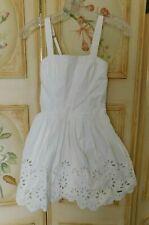 Abercrombie Kids Girl's White Cotton Summer Dress Size Large