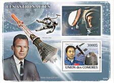 ASTRONAUTS: Yang Liwei / Gordon Cooper Mercury Space Stamp Sheet (2008 Comoros)