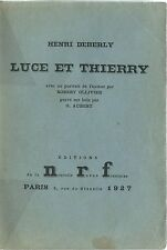 EO HC N° HENRI DEBERLY + ROBERT OLLIVIER + DÉDICACE : LUCE ET THIERRY