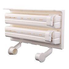MULTIUSO Triplo Rotolo di carta Dispenser Mensola Supporto per tessuto-carta da cucina