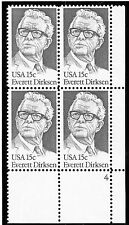 US  1874  Everett Dirksen 15c - Plate Block of 4 - MNH - 4  LR