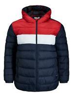 Jack And Jones Jacket Men Hooded Plus Size Puffer Jackets Coat Size 2XL - 8XL